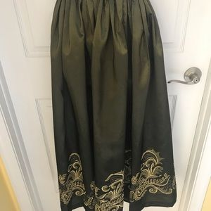 Ewaldo Bock Vintage Golden embroidery Skirt